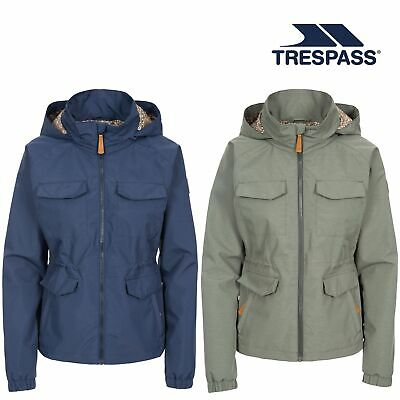 Trespass Womens Raincoat Hooded Waterproof Jacket with Drawcord Ladies XS-XXL
