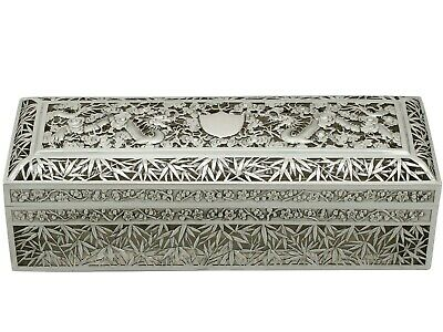 Antique Chinese Export Silver Box by Wang Hing & Co Circa 1890