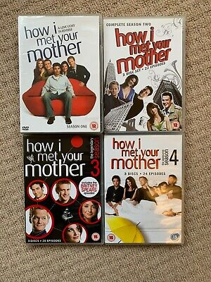 How I Met Your Mother - Seasons 1-4 Dvd Bundle - 12 Disc's - 88 Episodes - Uk R2