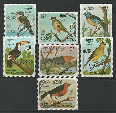 Thematic Stamps Animals - KAMPUCHEA 1985 ARGENTINA BIRDS 7v 648/54 mint