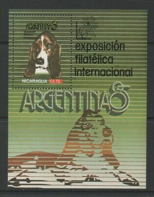 Thematic Stamps Animals - NICARAGUA 1985 DOGS (EXHIB) MS mint