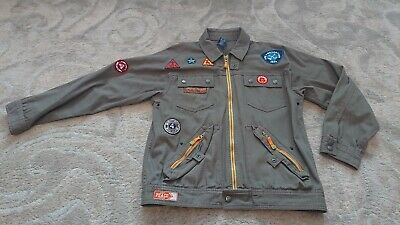 Gap green cotton Military Jacket XXL girls age 14-16 years *vgc*