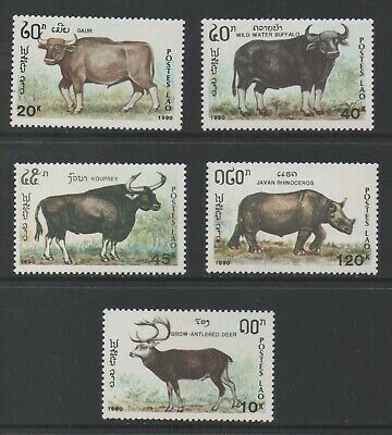 Thematic Stamps Animals - LAOS 1990 MAMMALS 5v 1213/7 mint