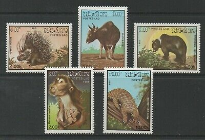 Thematic Stamps Animals - LAOS 1985 MAMMALS 5v 832/6 mint