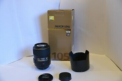 Nikon Nikkor AF-S Micro 105mm ff/2.8G IF-ED Prime Lens In A1 Condition
