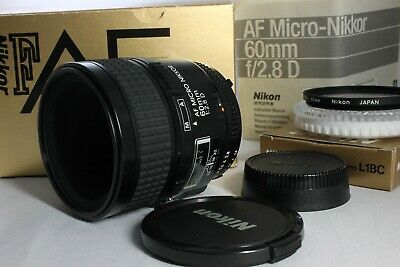 Near Mint Nikon AF Micro Nikkor 60mm f2.8D Lens with box from Japan