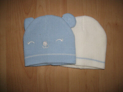 **BNWOT Boys Primark Baby Hats x 2 Size 0-6 months Great Condition**