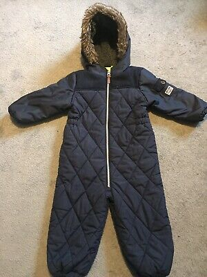 Boys navy Blue Next Snowsuit Age 18 months to 2 years