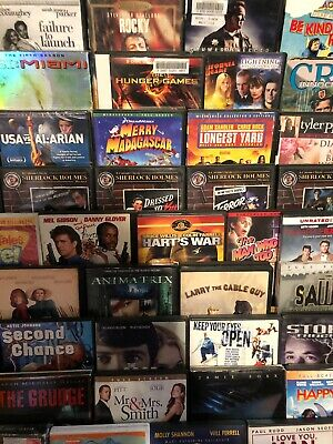 You Pick 10 DVDs Movies Lot -Action Comedy Horror Family - with Cases