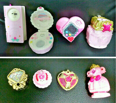 Glitter force Smile Precure Girls Toy Set Pact Compact Charm Decor Pretty Cure