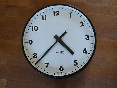 Large 24 inch GENT of Leicester electric clock slave dial Pulsynetic can convert