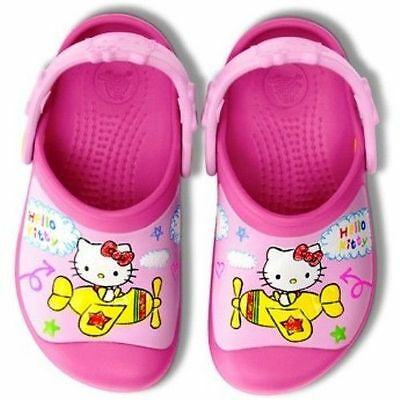 NEW Crocs Hello Kitty Plane Creative Clogs Toddler Girls Shoes 10/11