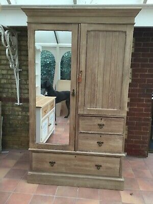 Antique Oak Compactum Wardrobe