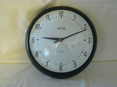 Smiths 8 day Winding Movement Office/Factory/Home Wall Clock - Unrestored.