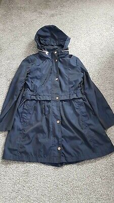 Girls Navy Ted Baker Rain Mac Age 13 with Rose Gold Detail