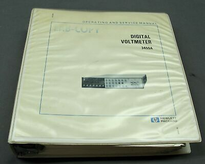 HP 3455A Digital Voltmeter Operating and Service Manual with Schematics, EXC