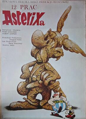 Original Polish Movie Poster Les douze travaux d'Astérix'