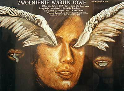 Orig. Polish Movie Poster Straight Time / Stunde der Bewährung