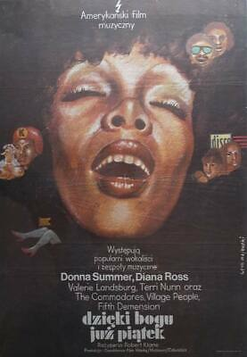 Orig. Polish Movie Poster Thank God It's Friday Donna Summer