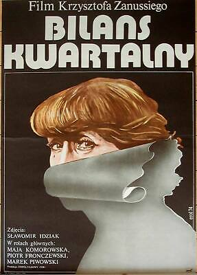 Orig. Polish Movie Poster 'The Quarterly Balance / Bilans kwartalny