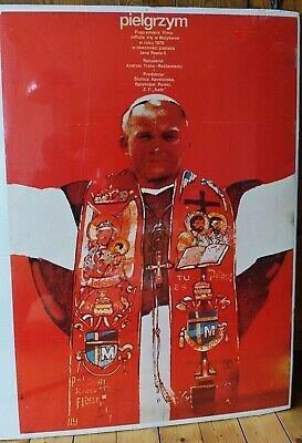 Orig. Polish Movie Poster 'Pilgrim' 'Pielgrzym'