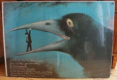Orig. Polish Movie Poster 'After Hourst' 'Die Zeit nach Mitternacht'