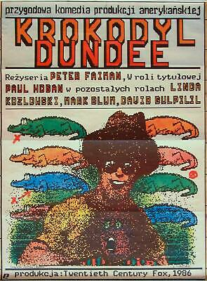 Orig. Polish Movie Poster 'Crocodile Dundee