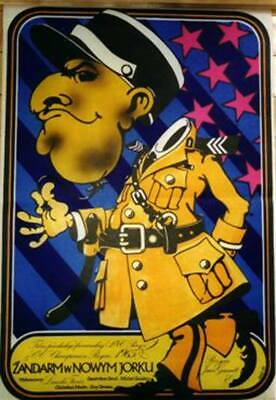 Orig. Polish Movie Poster 'Le Gendarme a New York' Louis de Funes