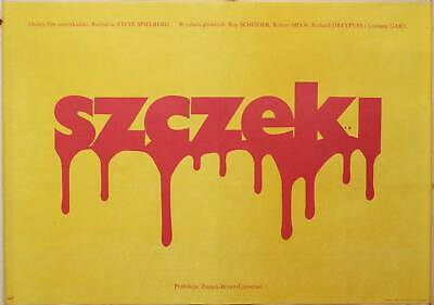 Original Polish Movie Poster Jaws / Der weiße Hai