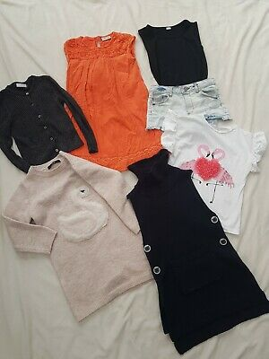 Job Lot Of Girls Clothes Age 5-6 Years, From Next, River Island, George, Primark