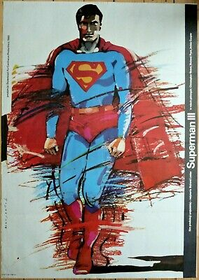 Original Polish Movie Poster Superman 3