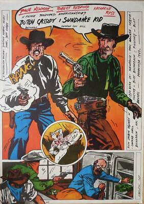 Original Polish Movie Poster Butch Cassidy and Sundance Kid
