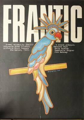 Original Polish Movie Poster Frantic Roman Polanski