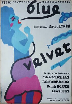 Original Polish Movie Poster Blue Velvet