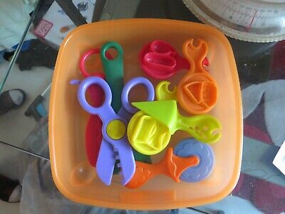 playdoh playdough box set pizza set 8 tools childrens toy and moulds for food