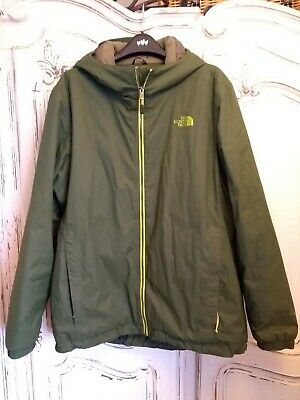 Mens north face jacket xl used HyVent green