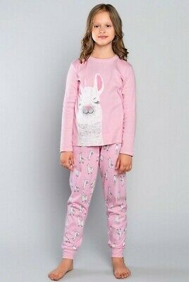 PERU Pyjama Fillette en coton Rose Italian Fashion
