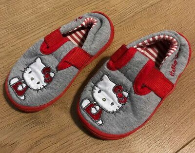 Hello Kitty Grey/Red Slippers - M&S - UK Jnr Size 9