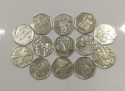 London 2012 Olympic Games 50p coin nearly complete job lot fifty pence