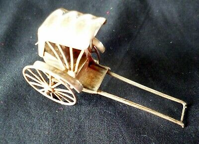 Antique Chinese Export Silver Model Rickshaw wcharacter mark early 20th century