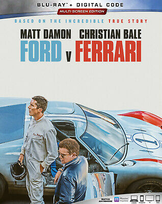 Ford v Ferrari Blu Ray + Digital Code + Slipcover - BRAND NEW!!