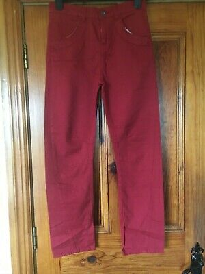 "Dunnes Boys Burgundy Red Jeans Age 13 / 27"" Waist 100% Cotton"