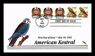 Dr Jim Stamps Us American Kestrel Combo Hand Colored First Day Cover
