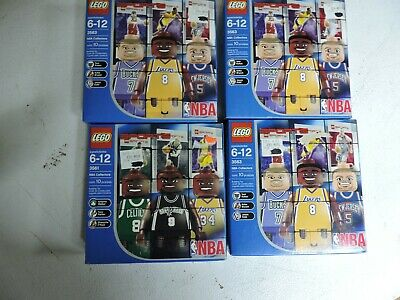 NEW 3 LEGO Kobe Bryant boxes and 1 Antoine Walker ( Shaq )(Tony)