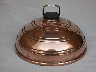 274 ANTIQUE 1900's WAFAX COPPER CARRIAGE WARMER WITH COMPOSITE SCREW CAP
