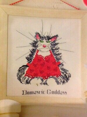 (B) Cat About The House Domestic Goddess Cross Stitch Chart