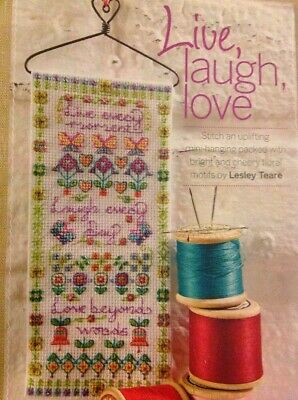 (B) Live Laugh Love Spring Flower Sampler Cross Stitch Chart