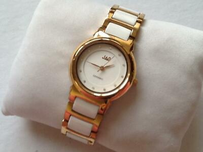 Pre-owned: JAG Ladies Ceramic Watch. White/Gold. J1497A