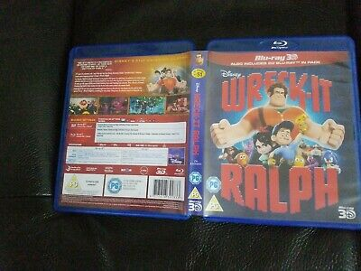 Wreck-it Ralph Blu-Ray (2013) Rich Moore cert PG 2 discs region free vgc