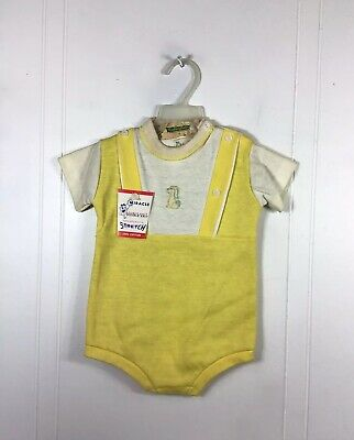Vintage 1960's Baby Suit Romper NEW 6 Months